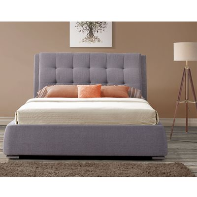 MAYFAIR UPHOLSTERED BED WITH 4 DRAWERS in Grey by Birlea
