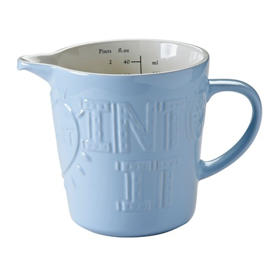Mason Cash 'Bake My Day' Measuring Jug in Blue
