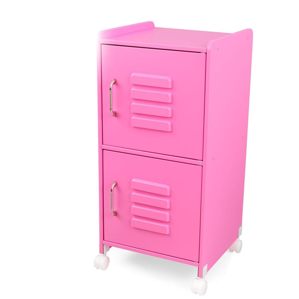 Kids locker cupboard in pink girls bedroom furniture for Cupboard models for bedroom