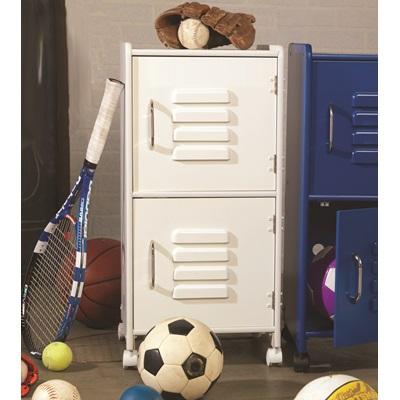 Kids Locker Cupboard In White - Kid Kraft
