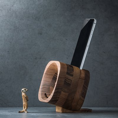 Trobla Wooden Amplifier Speaker for Smartphones