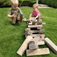 MEGA JENGA STYLE WOODEN HITOWER GAME by Garden Games