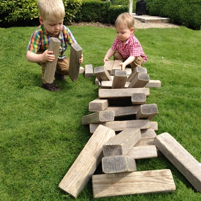 Mega Jenga Style Wooden Hi-Tower Game by Garden Games