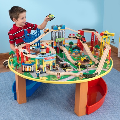 KIDS CITY EXPLORER'S TRAIN SET