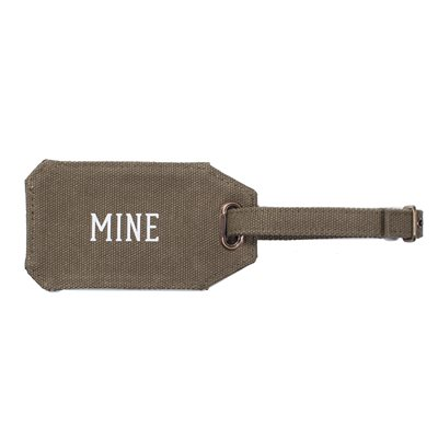 MEN'S SOCIETY CANVAS LUGGAGE TAG