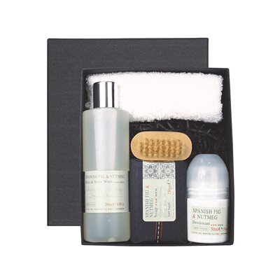 BATH HOUSE SPANISH FIG & NUTMEG MEN'S SHOWER GIFT BOX