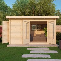 ZEN LOG CABIN with Single Glazing by Mercia  44mm