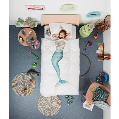 SNURK Childrens Mermaid Duvet Bedding Set