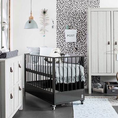 LOFT METAL BABY COT in Anthracite