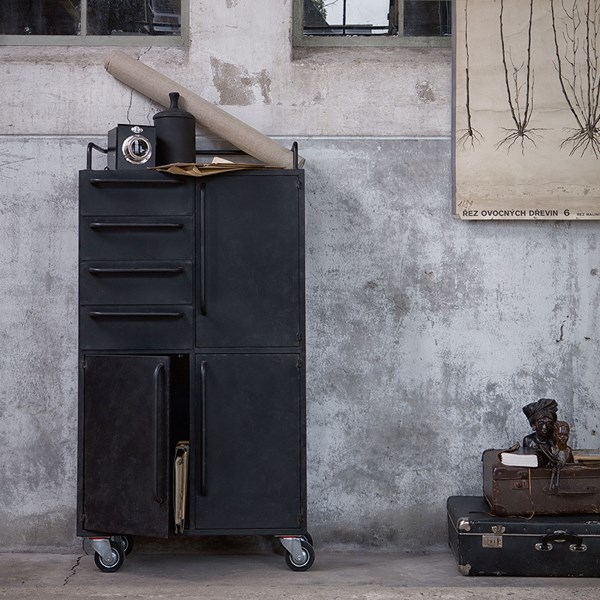 Black Beauty Cabinet on Wheels by Be Pure Home