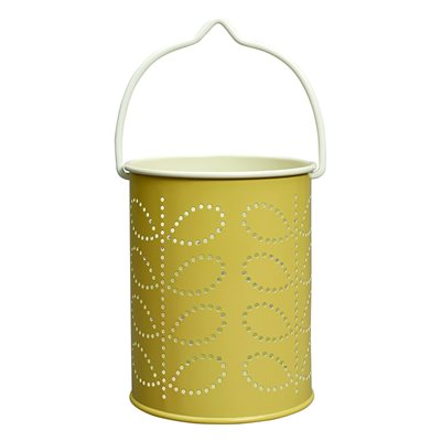 ORLA KIELY TEA LIGHT LANTERN in Sunshine Yellow Linear Stem Print