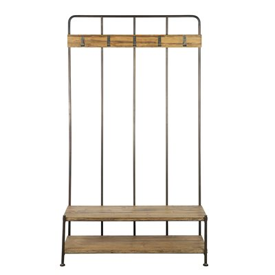 GIRO INDUSTRIAL COAT STAND with Shelf by Be Pure Home