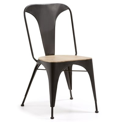 VITA DINING CHAIR in Graphite and Acacia