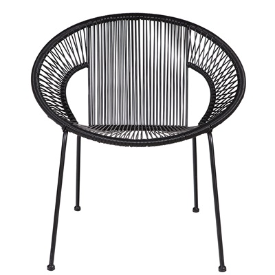 COCKTAIL SLING GARDEN CHAIR in Black