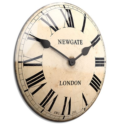 Delightful ... Metal Large Chic Kitchen Clocks Chelsea ...