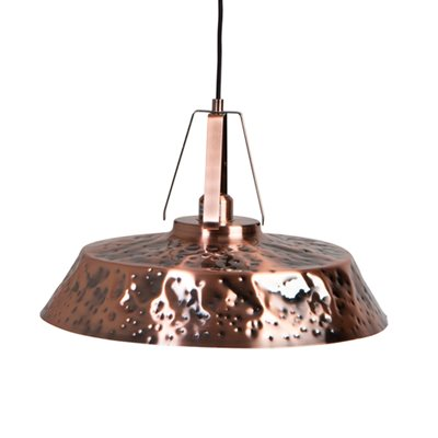 INDUSTRIAL CEILING LIGHT in Copper Iron Finish
