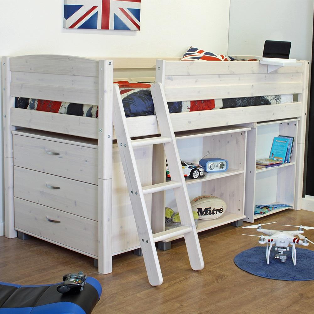thuka trendy kids mid sleeper bed pine kids beds. Black Bedroom Furniture Sets. Home Design Ideas