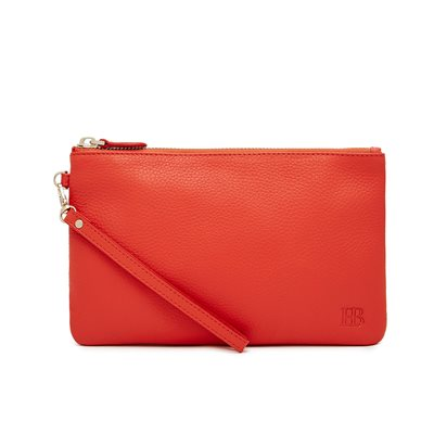 CORAL PHONE CHARGING LEATHER MIGHTY PURSE