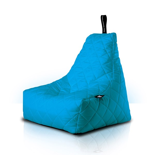 Mighty B-Bag Quilted Outdoor Bean Bag in Aqua
