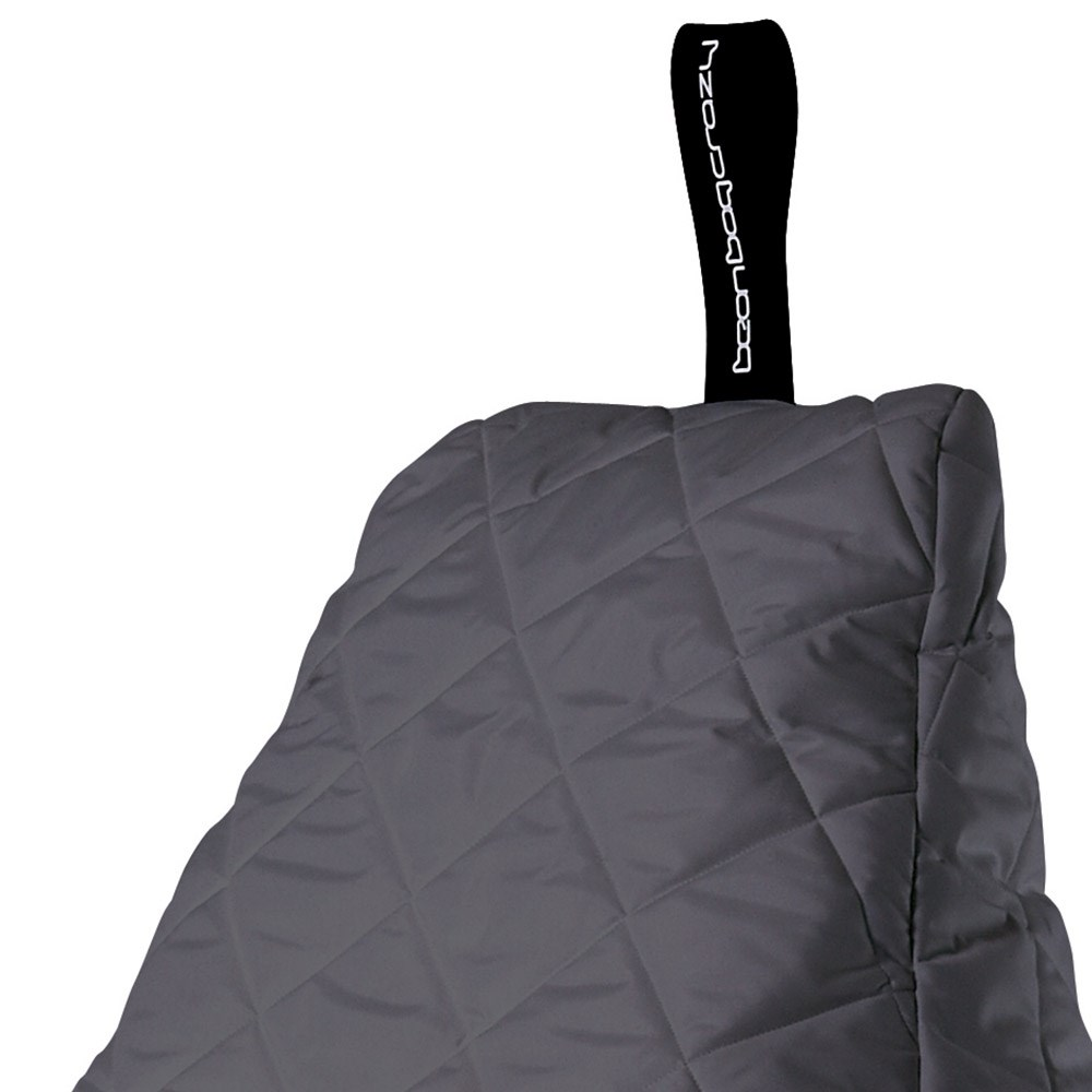 Extreme Lounging Mighty B Bag Quilted Bean Bag In Grey