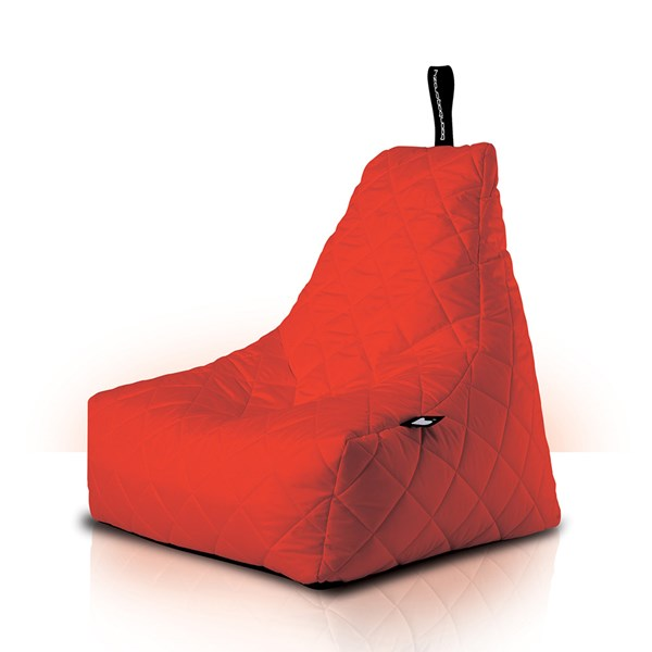 Mighty B-Bag Quilted Outdoor Bean Bag in Red