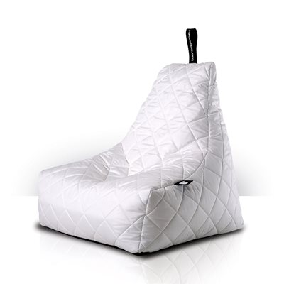 MIGHTY B-BAG QUILTED OUTDOOR BEAN BAG in White