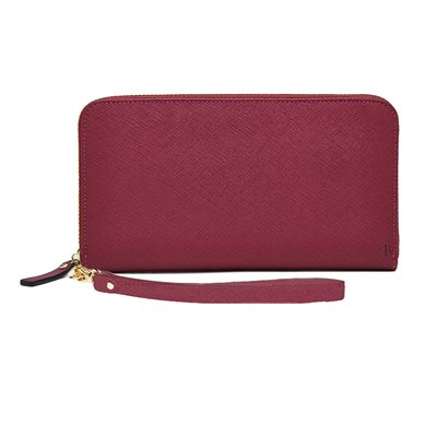 PHONE CHARGING MIGHTY PURSE ZIPPER WALLET in Berry
