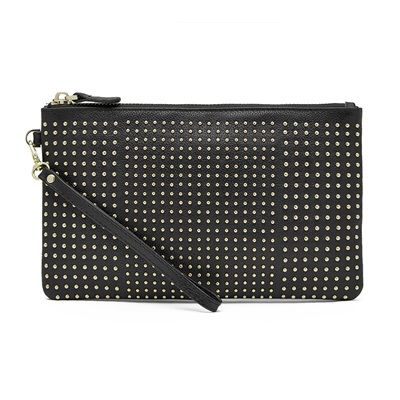 PHONE CHARGING MIGHTY PURSE STUD WRISTLET in Black