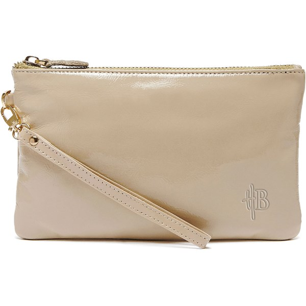 Mighty Purse Designer Clutch Bag in Cafe Au Lait Coffee