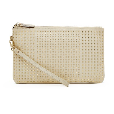 PHONE CHARGING MIGHTY PURSE STUD WRISTLET in Cream