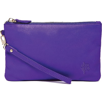 PHONE CHARGING MIGHTY PURSE in Icy Purple Goat Leather