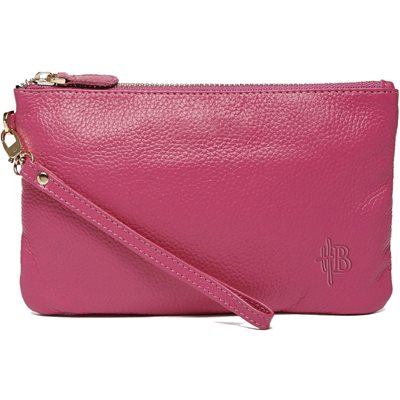 MIGHTY PURSE in Poppy Pink Cow Leather