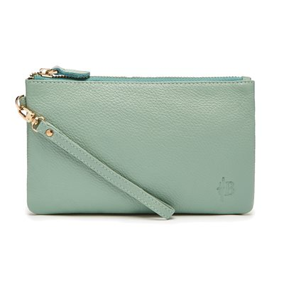 MIGHTY PURSE in Powder Blue Cow Leather
