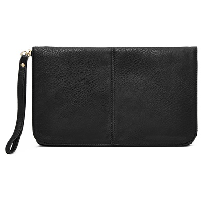 PHONE CHARGING MIGHTY PURSE FLAP X-BODY BAG in Black