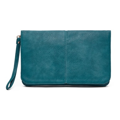PHONE CHARGING MIGHTY PURSE FLAP X-BODY BAG in Blue