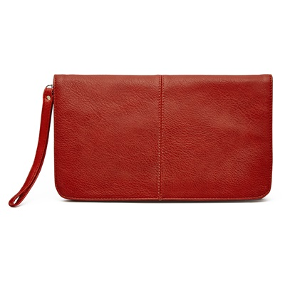 PHONE CHARGING MIGHTY PURSE FLAP X-BODY BAG in Red