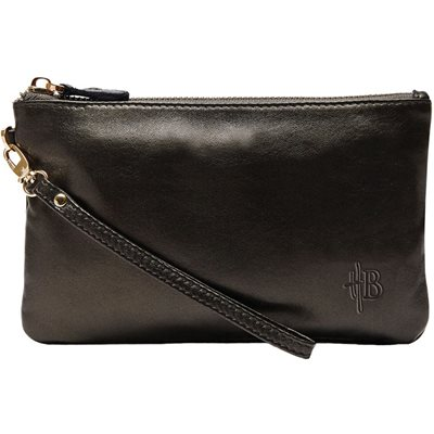 MIGHTY PURSE in Black Shimmer Cow Leather