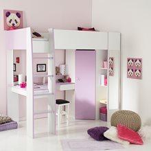 Parisot Tam Tam Childrens Bunk Bed In White Amp Loft Grey Kids Avenue Cuckooland