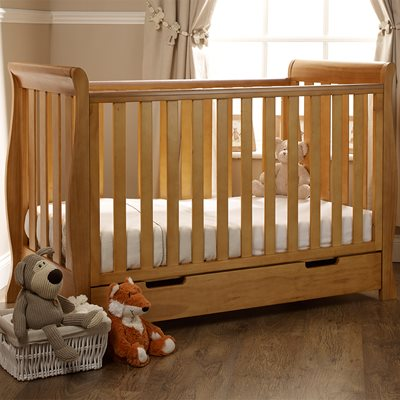 STAMFORD MINI COT BED in Country Pine by Obaby