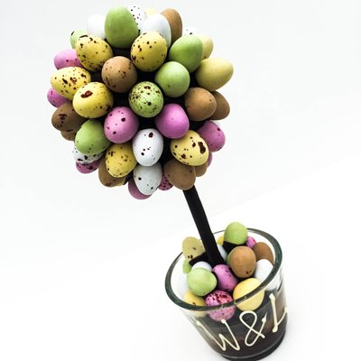 PERSONALISED MINI EGG CHOCOLATE SWEET TREE