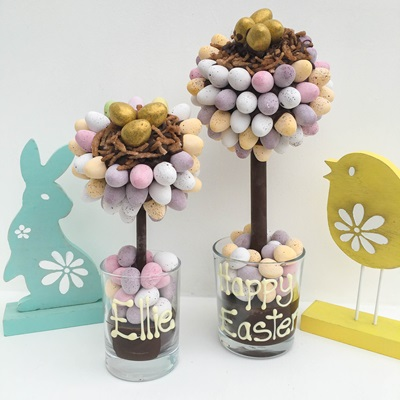 PERSONALISED MINI EGG NEST EASTER SWEET TREE