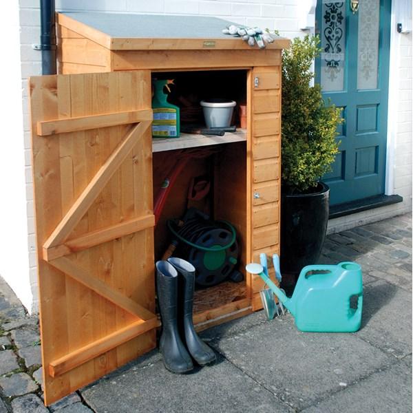 Rowlinson Mini Garden Storage in Honey Brown