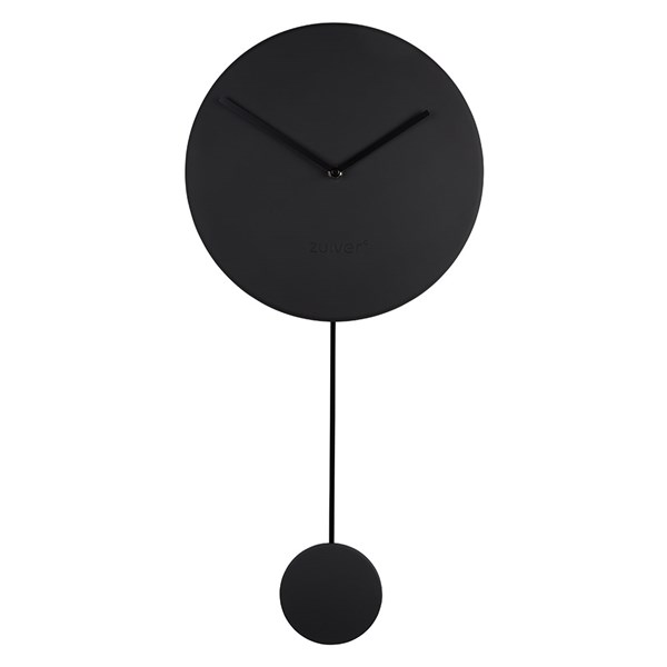 Zuiver Minimal Wall Clock in Black