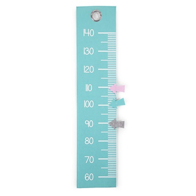 Kid's Felt Ruler Height Chart in Mint Blue