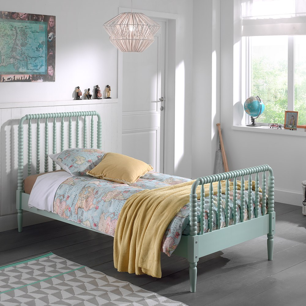 Alana Kids Single Bed In Mint - Kids Beds | Cuckooland