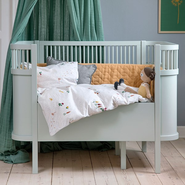 Sebra Expanding Cotbed to Junior Bed in Mist Green