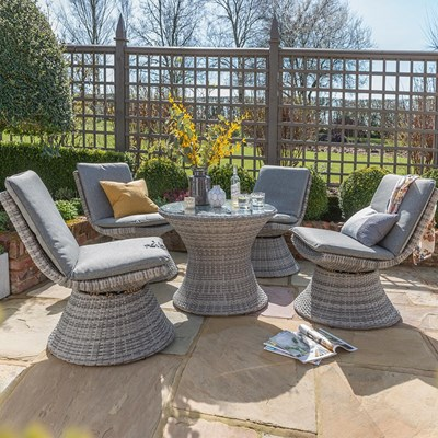 Miramar Outdoor Dining Furniture Set With Swivel Chairs Norfolk