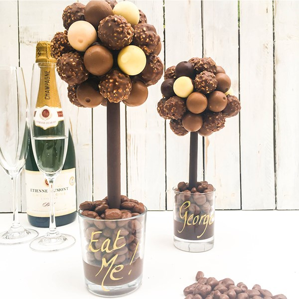 Tasty Personalised Chocolate Mixed Truffle Sweet Tree
