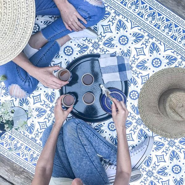 Beija Flor Modern Bella Vinyl Floor Mat