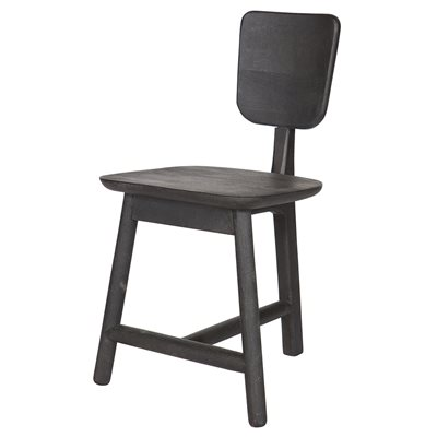 ROOST SCANDI STYLE DINING CHAIR in Black Wood